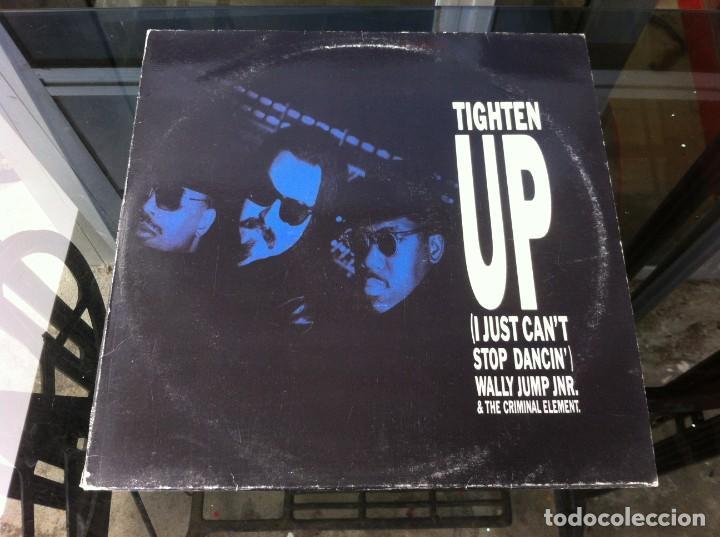 MAXI SINGLE. WALLY JUMP JUNIOR & THE CRIMINAL ELEMENT. TIGHTEN UP. 1988, ESPAÑA (Música - Discos - LP Vinilo - Otros estilos)