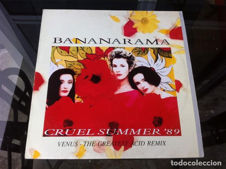 MAXI SINGLE. BANANARAMA. CRUEL SUMMER. 1989, ESPAÑA (Música - Discos - LP Vinilo - Otros estilos)