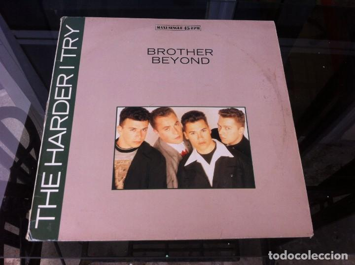 Discos de vinilo: MAXI SINGLE. BROTHER BEYOND. THE HARDER I TRY. 1988, ESPAÑA - Foto 1 - 164833522