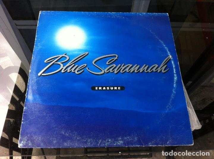 MAXI SINGLE. ERASURE. BLUE SAVANNAH. 1990, ESPAÑA (Música - Discos - LP Vinilo - Otros estilos)