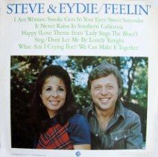 Discos de vinilo: STEVE LAWRENCE & EYDE GORMÉ. STEVE & EDYDIE - FEELIN'. Lote 164841818