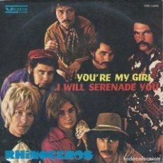 Discos de vinilo: RHINOCEROS, YOU'RE MY GIRL. (VEDETTE,1968) -ITALIANO, DIFICIL-. Lote 164842714