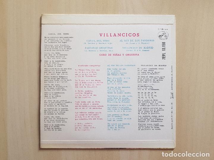 Discos de vinilo: VILLANCICOS - CANTA, RIE, BEBE - SINGLE - VINILO - LA VOZ DE SU AMO - 1958 - Foto 2 - 164843246