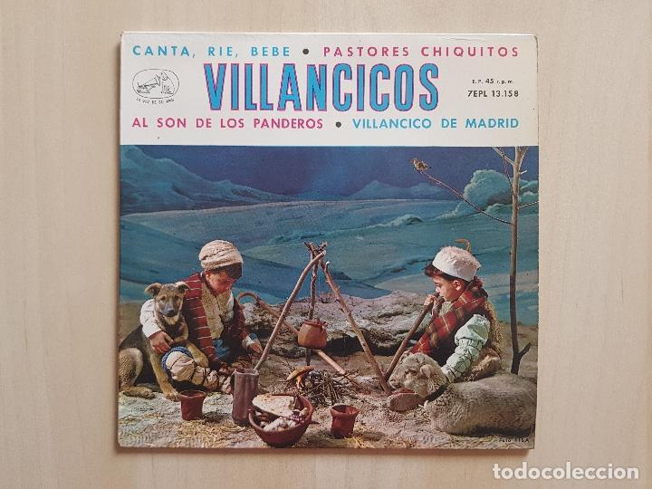 VILLANCICOS - CANTA, RIE, BEBE - SINGLE - VINILO - LA VOZ DE SU AMO - 1958 (Música - Discos - Singles Vinilo - Otros estilos)