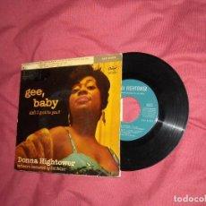 Discos de vinilo: DONNA HIGHTOWER EP EVERYDAY I´VE GOT THE BLUES + 3 TEMAS 1960 CAPITOL SPA. Lote 164846326