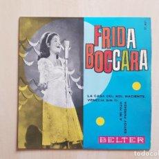 Discos de vinilo: FRIDA BOCCARA - LA CASA DEL SOL NACIENTE - SINGLE - VINILO - BELTER - 1965. Lote 164846734