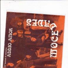 Discos de vinilo: 45 GIRI MOCEADES ADDIO AMOR 23O FESTIVAL DI SANREMO 1973 INTERNATIONAL . Lote 164885822
