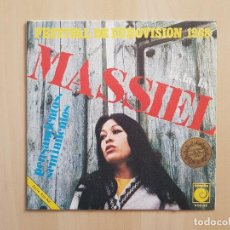Dischi in vinile: MASSIEL - FESTIVAL DE EUROVISIÓN 1968 - LA, LA, LA - SINGLE - VINILO - NOVOLA - 1968. Lote 164897114
