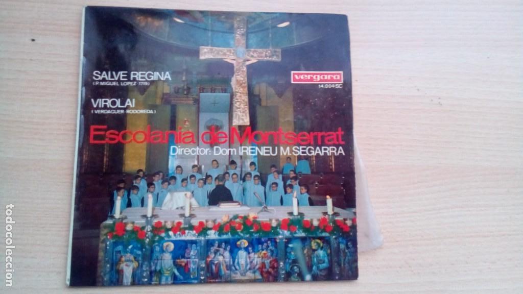 ESCOLANIA DE MONTSERRAT - SALVE REGINA / VIROLAI - EP VERGARA 14004 1967 (Música - Discos - Singles Vinilo - Clásica, Ópera, Zarzuela y Marchas)
