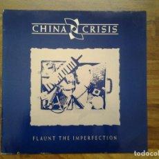 Discos de vinilo: CHINA CRISIS -FLAUNT THE IMPERFECTION- LP ED. ALEMANA 206 951 1985 MUY BUENAS CONDICIONES.. Lote 164901058
