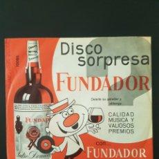 Discos de vinilo: DISCO SORPRESA FUNDADOR LOTE DE 6 DISCOS VINILO 45 RPM. Lote 164902882