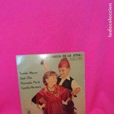 Discos de vinilo: FIESTA DE LA JOTA, CUATRO JOTEROS Y CUATRO ESTILOS, TOMÁS MARCO, JOSÉ OTO, PASCUALA PERIÉ, CECILIO -. Lote 164907858