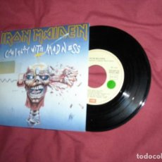 "Discos de vinilo: IRON MAIDEN SINGLE "", INCLUYE LOS TEMAS ""CAN I PLAY WITH MADNESS"" Y ""BLACK BART BLUES"" 1988 SPA. Lote 164910378"