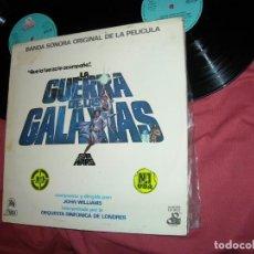 Discos de vinilo: JOHN WILLIAMS BANDA SONORA 2 LP LA GUERRA DE LAS GALAXIAS STAR WARS SERIE TRACA SPAIN 1977. Lote 164912530