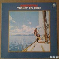 Discos de vinilo: CARPENTERS -TICKET TO RIDE- LP AM RECORDS 1977 ED. ESPAÑOLA AMLP 8001 MUY BUENAS CONDICIONES.. Lote 164913406