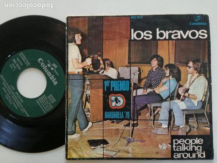 Discos de vinilo: LOS BRAVOS - People Talking Around +1 - SINGLE COLUMBIA 1970 // 1º PREMIO BARBARELLA - Foto 2 - 164922474