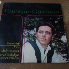 Discos de vinilo: ENRIQUE GUZMÁN–BUEN VIAJE / VIDA / CUIDADO MI AMOR / UN AMOR VERDADERO NUNCA TERMINA - EP 1964. Lote 164932046