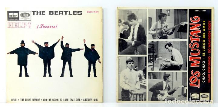 THE BEATLES - HELP! - LOS MUSTANG, CHAO CHAO (Música - Discos de Vinilo - Maxi Singles - Pop - Rock Extranjero de los 50 y 60)