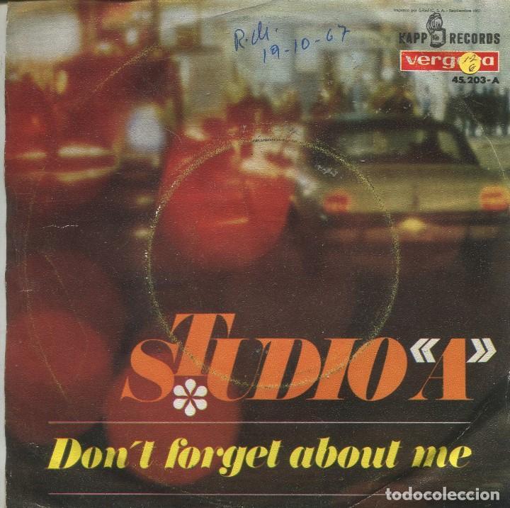 Discos de vinilo: STUDIO A / DONT FORGET ABOUT ME + VERSION INSTRUMENTAL (SINGLE 1967) - Foto 2 - 164936206