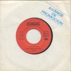 Discos de vinilo: LOS SUAVES / DAME ROCK AND ROLL / PARECE QUE AUN (SINGLE AVANCE DE PROMOCION CON HOJA DISCOGRAFICA). Lote 164937338