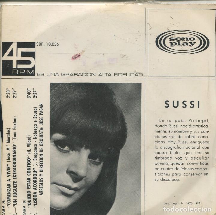 Discos de vinilo: SUSSI / COMENZAR A VIVIR + 3 (EP 1967) PORTADA ABIERTA - Foto 2 - 164938442