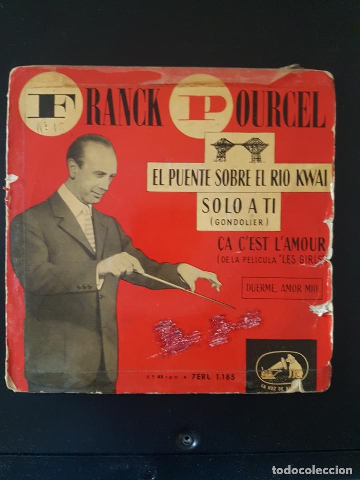 FRANK POURCEL EL PUENTE SOBRE EL RIO KWAI 45 RPM (Música - Discos de Vinilo - Maxi Singles - Orquestas)