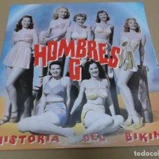 Disques de vinyle: HOMBRES G (LP) HISTORIA DEL BIKINI AÑO 1992 – PORTADA ABIERTA. Lote 164939770