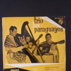 Discos de vinilo: TRIO LOS PARAGUAYOS MARIA DOLORES SERENATA MALAGUEÑA PAJARO CAMPANA CBS 1967. Lote 164939914