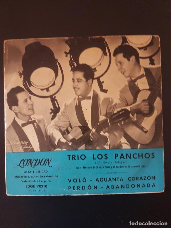 TRIO LOS PANCHOS LONDON VOLO AGUANTA CORAZON PERDON ABANDONADA 45 RPM (Música - Discos de Vinilo - Maxi Singles - Grupos y Solistas de latinoamérica)