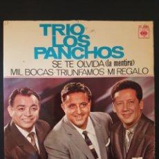 Discos de vinilo: TRIO LOS PANCHOS SE TE OLVIDA LA MENTIRA MIL BOCAS TRIUNFAMOS MI REGALO 45 RPM DISCOPHON. Lote 164942906