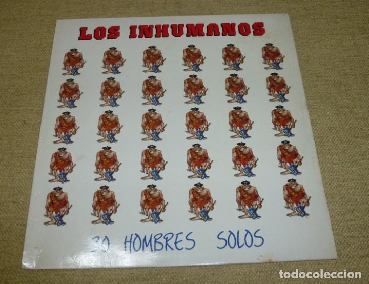 LOS INHUMANOS ?– 30 HOMBRES SOLOS (Música - Discos - LP Vinilo - Grupos Españoles de los 70 y 80)