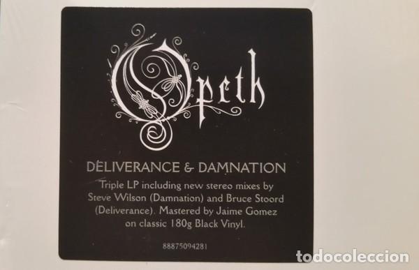 Discos de vinilo: OPETH DELIVERANCE & DAMNATION 3 LPs TRIPLE VINILO NUEVO - Foto 3 - 164972418