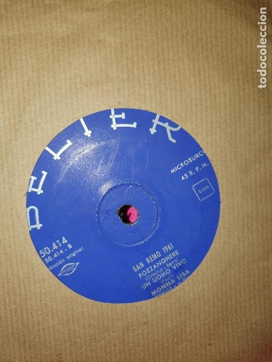 Discos de vinilo: san remo 1961, 24.000, non mi dire chi, pozzanghere, un uomo vivo, belter, 1961. - Foto 2 - 165001674