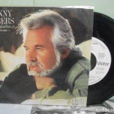 Discos de vinilo: KENNY ROGERS, KIM CARNES &J.INGRAM WHAT ABOUT ME ? SINGLE SPAIN 1984 PDELUXE. Lote 165039678