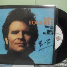 Discos de vinilo: JOHN FOGERTY ROCK AND ROLL GIRLS SINGLES SPAIN 1965 PDELUXE. Lote 165041054