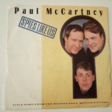 Discos de vinilo: PAUL MCCARTNEY SPIES LIKE US - SPAIN SINGLE 1985- THE BEATLES- VINILO EXC. ESTADO.. Lote 165042850
