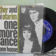 Discos de vinilo: ESTHER AND ABI OFARIM ONE MORE DANCE SINGLE SPAIN 1968 PDELUXE. Lote 165046122