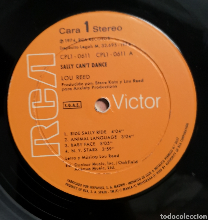 Discos de vinilo: LOU REED - SALLY CAN'T DANCE - VINILO LP - Foto 2 - 165051509
