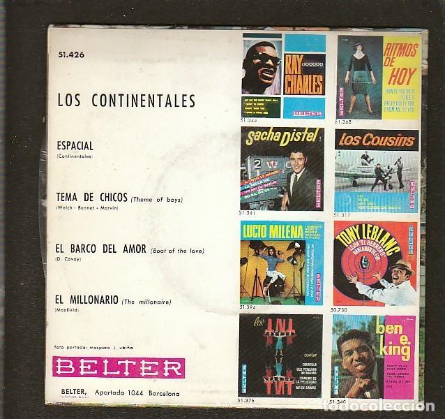 Discos de vinilo: LOS CONTINENTALES: BEATLES RARO EP - ESPAÑOL DE BELTER- LAMINADO- - Foto 2 - 165066110