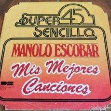 Discos de vinilo: LP - BELTER - MANOLO ESCOBAR - MIS MEJORES CANCIONES. Lote 165369356