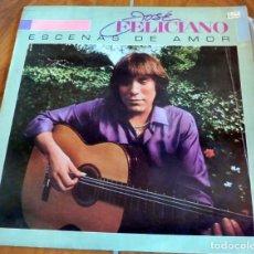 Discos de vinilo: LP - MOTOWN - JOSÉ FELICIANO - ESCENAS DE AMOR. Lote 165073426