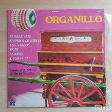 Discos de vinilo: ORGANILLO - ANTONIO APRUZZESSE - LP - VINILO - CAUDAL - 1979. Lote 165077534