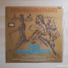 Discos de vinilo: DOÑA FRANCISQUITA - ALFREDO KRAUS - OLARIA - RAMALLE - LP - VINILO - ZAFIRO - 1978. Lote 165081034