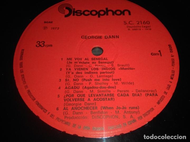 Discos de vinilo: disco vinilo lp EL SHOW DE GEORGIE DANN DISCOPHON - Foto 4 - 165088754