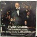 Discos de vinilo: FRANK SINATRA - THE SUMMER KNOWS . TEMA DE LA PELICULA EL VERANO DEL 42 SG ED. ESPAÑOLA 1975. Lote 165092770