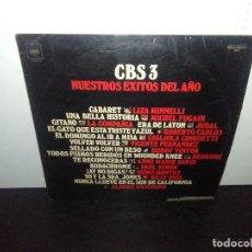 Discos de vinilo: DISCO VINILO LP CBS 3 NUESTROS ÉXITOS DEL AÑO 1973. Lote 165101722