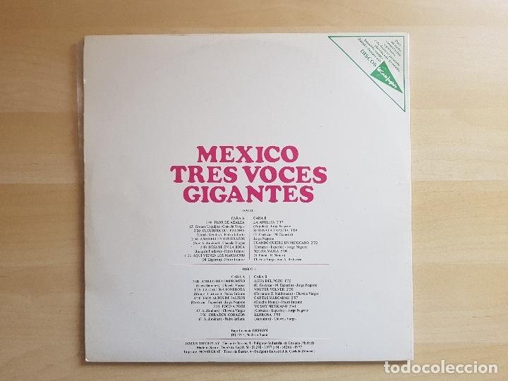 Discos de vinilo: MEXICO - TRES VOCES GIGANTES - NEGRETE - VARGAS - INFANTE - DOBLE LP VINILO - MOVIEPLAY - 1977 - Foto 3 - 165111886