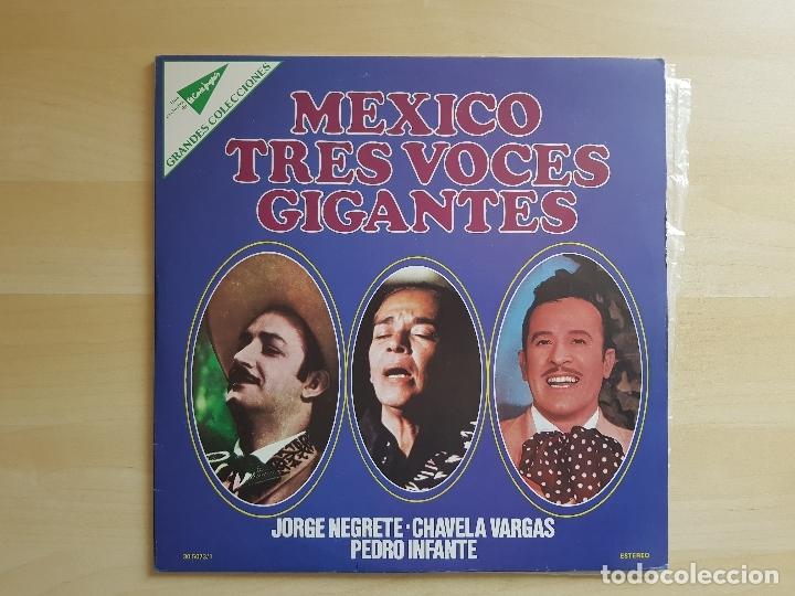 MEXICO - TRES VOCES GIGANTES - NEGRETE - VARGAS - INFANTE - DOBLE LP VINILO - MOVIEPLAY - 1977 (Música - Discos - LP Vinilo - Grupos y Solistas de latinoamérica)