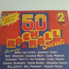 Discos de vinilo: LP ROCK & ROLL HEATS/DOBLE. Lote 165126540