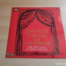 Discos de vinilo: ROMANZAS FAMOSAS DE ZARZUELAS - SAGI-VELA - KRAUS - LP VINILO - ZAFIRO - 1972. Lote 165127774